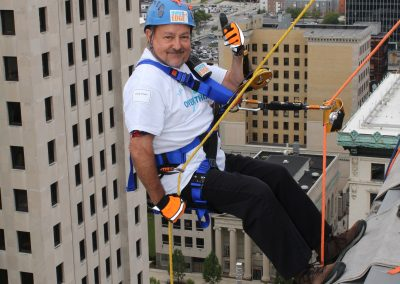 Kurt Nielsen rooftop photos for Over the Edge for Victory